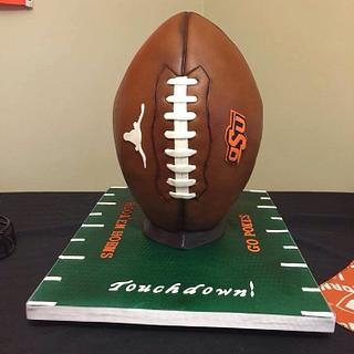 Texas/OSU Football Cake