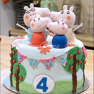 Peppa Pig Cake and Cookies