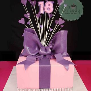 Present Box style cake