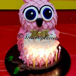 Owl Cake 3D Cake