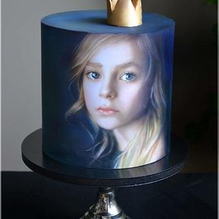 my sad little Princess ❤️  - Cake by KamilaAdamaschek