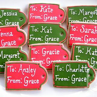 Gift Tag Cookies