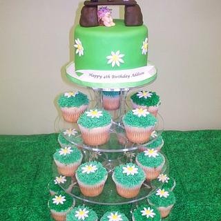 3 Billy Goats Cupcake Tower