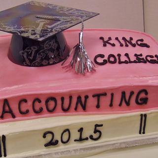 Stack books buttercream Graduation cake