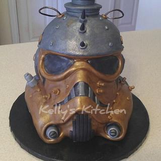 Steampunk storm trooper helmet