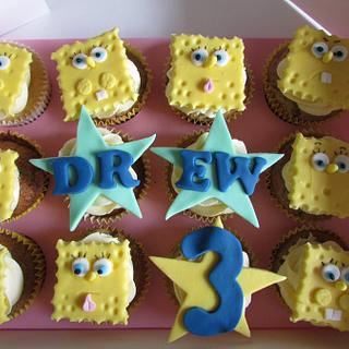 Spongebob banana muffins