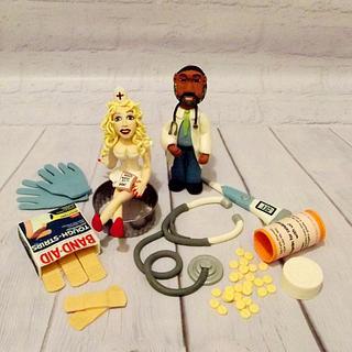 Doctor and Nurse Topper Set