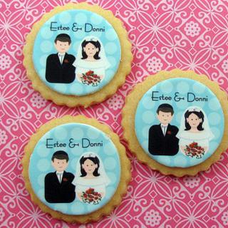 Bride & Groom Cookies - Cake by Cheryl