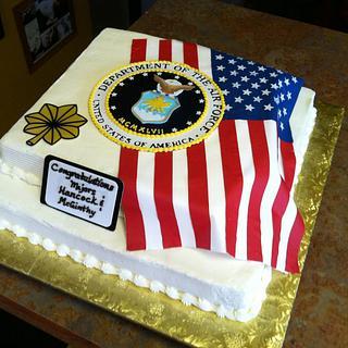 Air Force Flag Cake - Cake by Cathy Leavitt