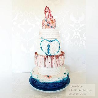 Beach Wedding - Cake by Take a Bite