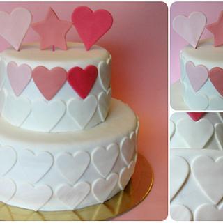 Heart themed cake