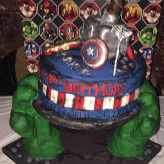 Avengers cake  - Cake by Cakes by Crissy