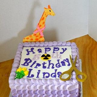 50th Ombre Birthday Giraffe Cake
