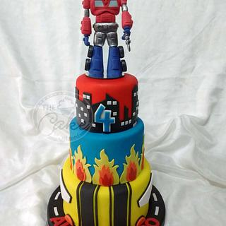 Great Transformers Cake - Cake by TheCake by Mildred