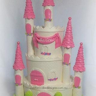 Princess Castle Cake - Cake by Custom Cake Designs
