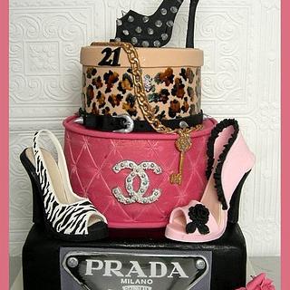 Designer Brands Sexy 21st ~ - Cake by Mel_SugarandSpiceCakes