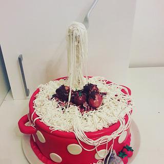 spageti cake