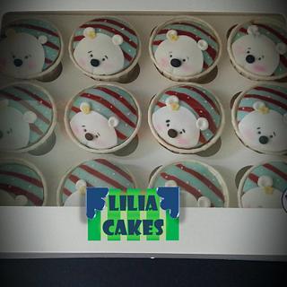 Christmas Bear Cupcakes