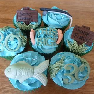 Fishing Cupcakes - Cake by Sian
