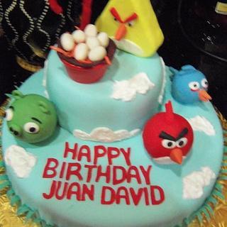 Angry Birds - Cake by Tania Garcia
