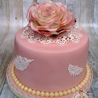 Little vintage birthday cake for a friend - Cake by La torta di Denise