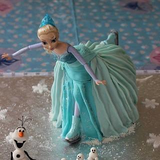 Frozen skating Elsa cake - Cake by TLC