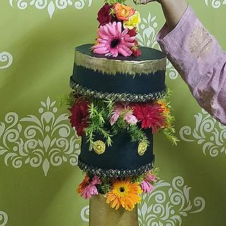 Chandelier Upside Down Cake - Cake by Neha Jaiswal
