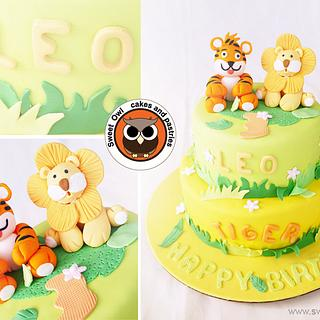 Lion and Tiger cake !!!