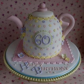 Teapot cake  - Cake by CupcakesbyLouise