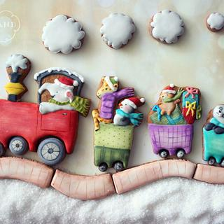 Interactive Christmas cookie train