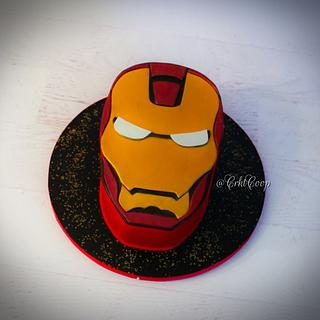 Iron Man Cake - Cake by CrktCoop