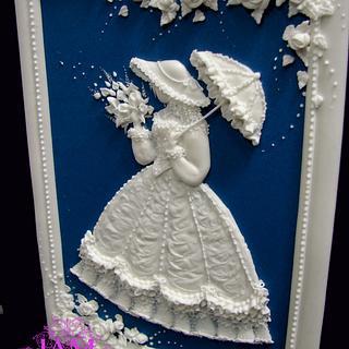 Rose Garden- Royal icing - Cake by  Justyna A-Majewska   JAM