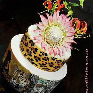 Hand Painted South African 50th Cake