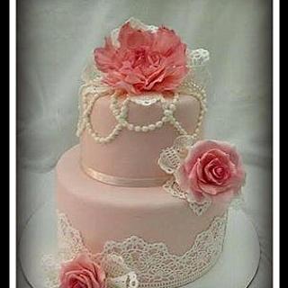 Vintage Lace 101 Birthday Cake