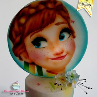 Airbrush Cake: Anna