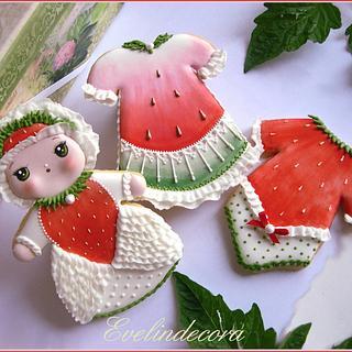 Summer fruit cookies