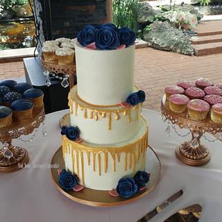 Blue Wedding Roses - Cake by Sharon A./Not Your Average Cupcake