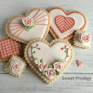 Valentine's Heart and Flower Cookies