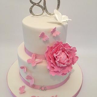 80th butterfly cake