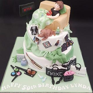 Watching Netflix! - Cake by Julie's Cake in a Box