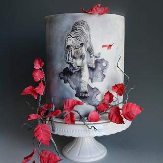 Tiger - Cake by tomima