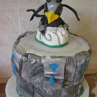 Sonic Boom Skylander cake