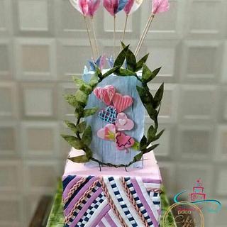Caker Buddies Valentine collaboration - Ecstatic Love - Cake by SeasonsofCakes