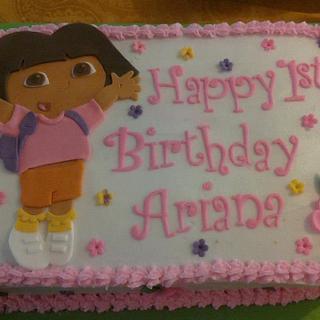Dora Birthday inspired by CorrieCakes design