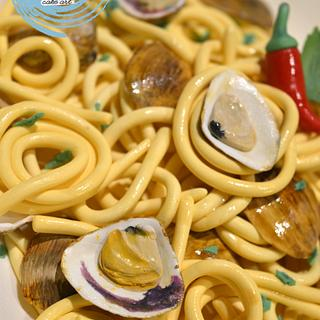 Spaghetti with clams.....incoming
