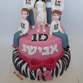 one direction fan cake