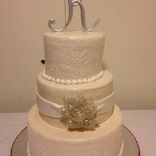 gown inspired wedding cake - Cake by Forgoodnesscakes