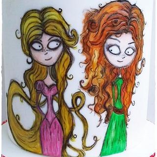Merida and Rapunzel