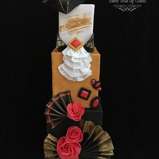Venetian Costume inspired cake @Venetian Carnival 2017 Collaboration
