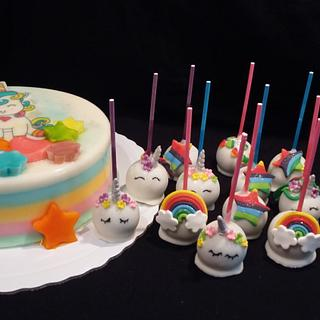 Unicorn Gelatine and Cake Pops